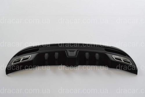 Накладка заднего бампера (диффузор) Hyundai Elantra MD 2010-2013  артикул 6713