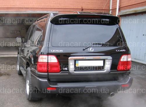 Спойлер козырек Toyota Land Cruiser 100 / Lexus LX 470 1998-2007 ABS пластик цвет черный артикул 697