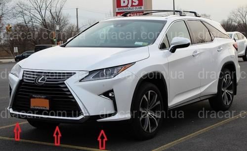 Юбка губа переднего бампера Lexus RX 2015-2019  артикул 7149